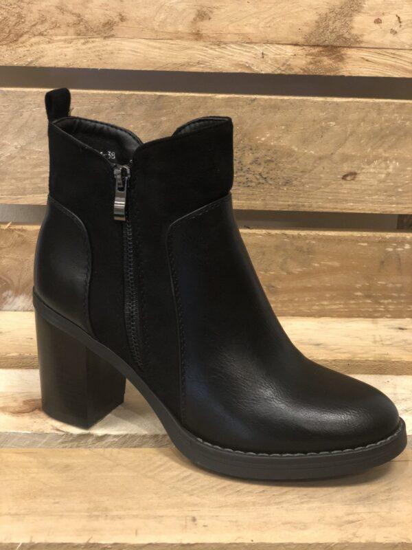 Sort foret vinterstøvle til dame