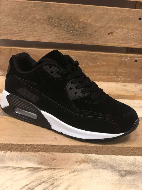 Sort sneakers med hvid sål