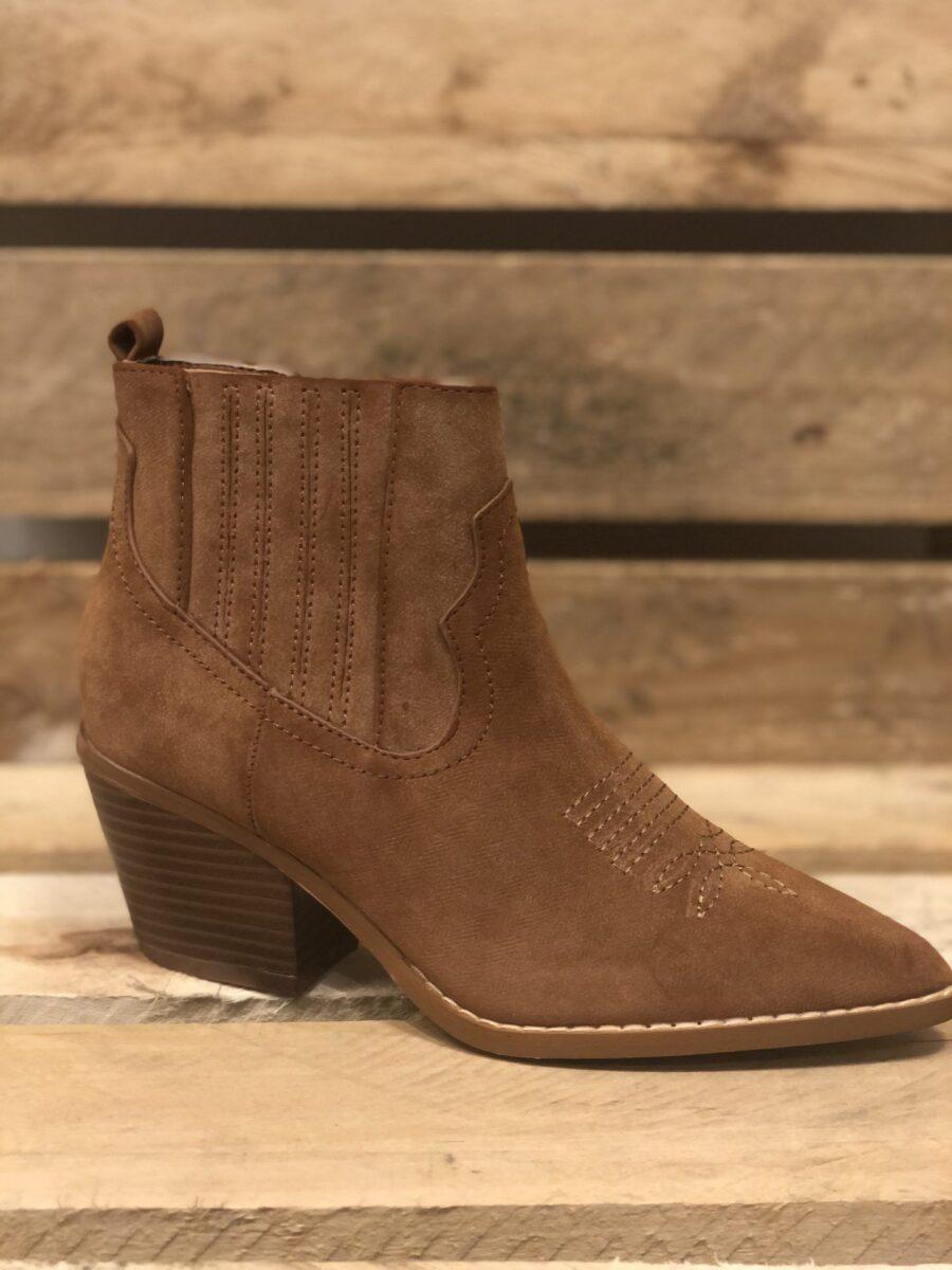 Camelfarvet støvle cowboystil