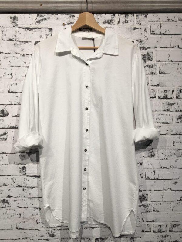 Lang skjorte med stretch hvid