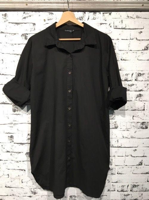 sort lang skjorte med stretch